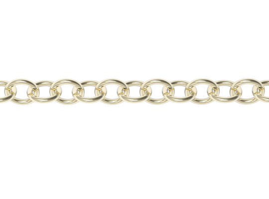 16'' STRINGER CHAIN-14k YELLOW GOLD VERMEIL-outlet
