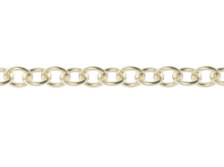 24'' STRINGER CHAIN-14k YELLOW GOLD VERMEIL-outlet