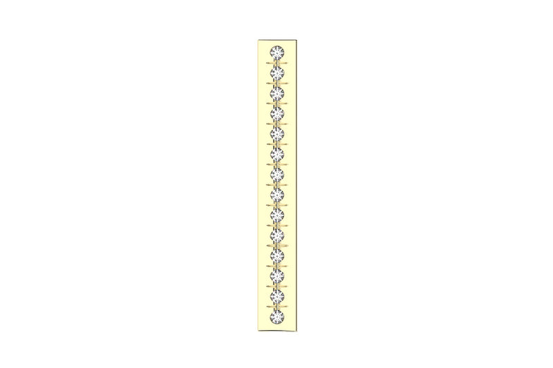 I-BEAM - 14k Diamond Pavé - Pendant