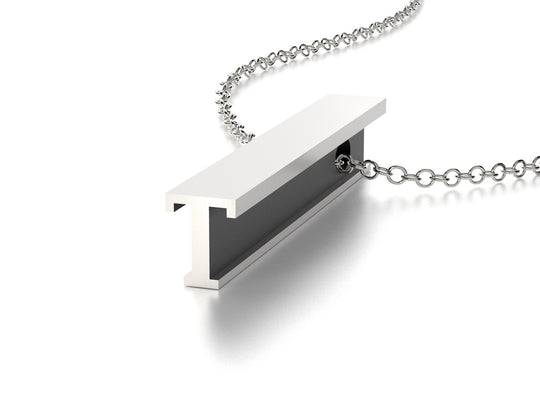 LETTER T NECKLACE-STERLING SILVER-outlet