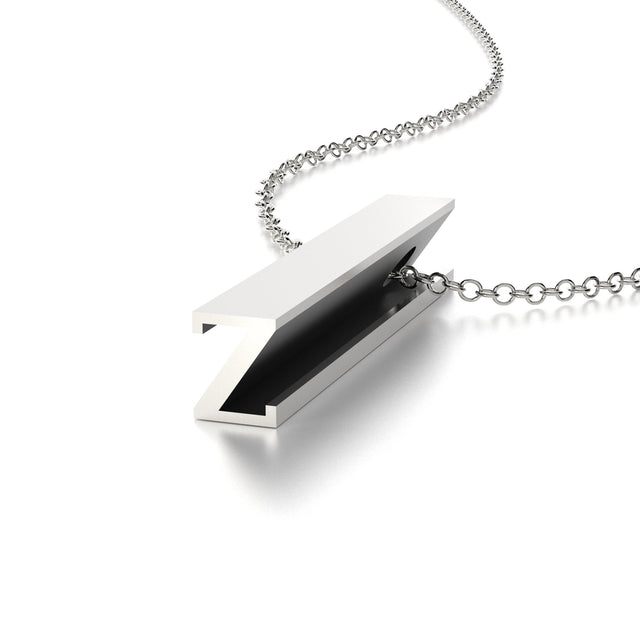 LETTER Z NECKLACE-STERLING SILVER-outlet