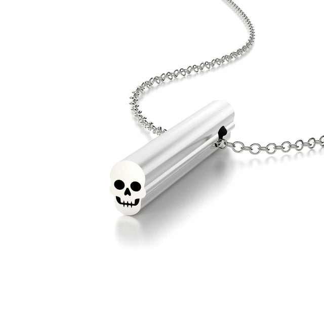 SYMBOL SKULL NECKLACE-STERLING SILVER-outlet