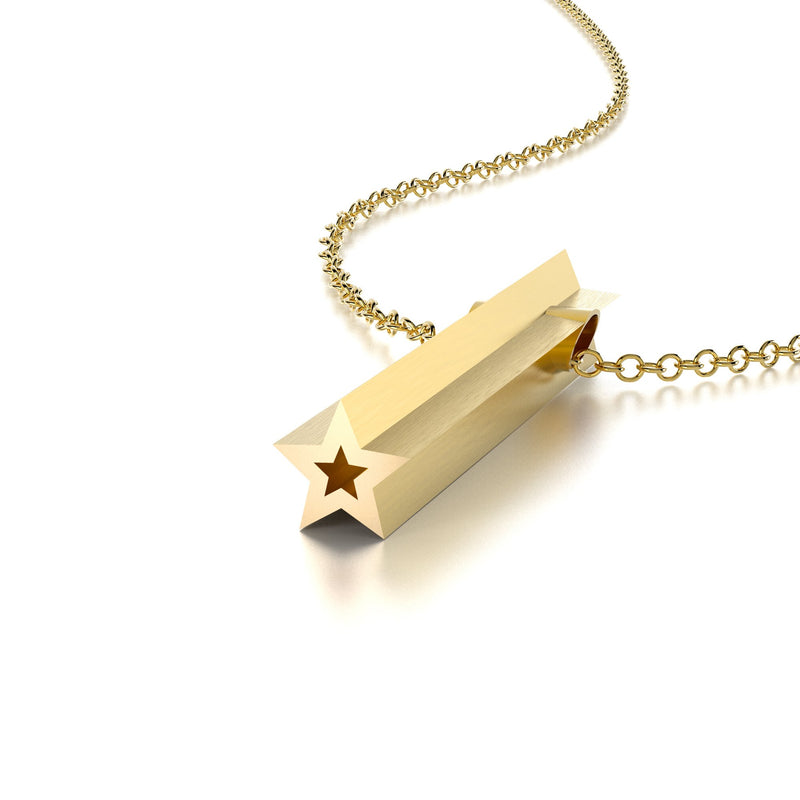 SYMBOL STAR NECKLACE-14k YELLOW GOLD VERMEIL-outlet