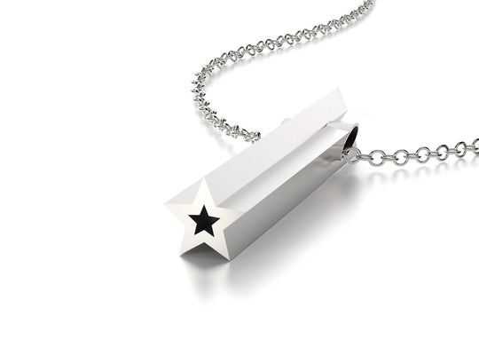 SYMBOL STAR NECKLACE-STERLING SILVER-outlet