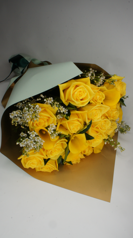 Yellow Roses & Calla Bouquet