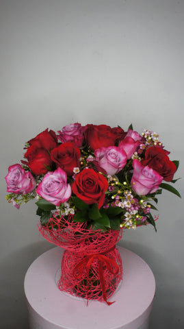 Dozen of Premium Purple & Red Roses