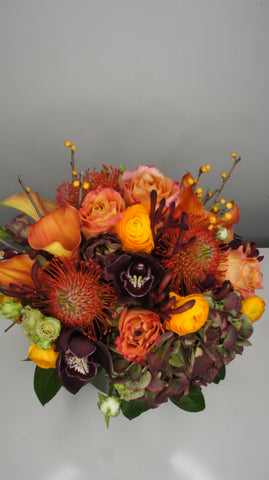Burgundy & Orange Fall Arrangement