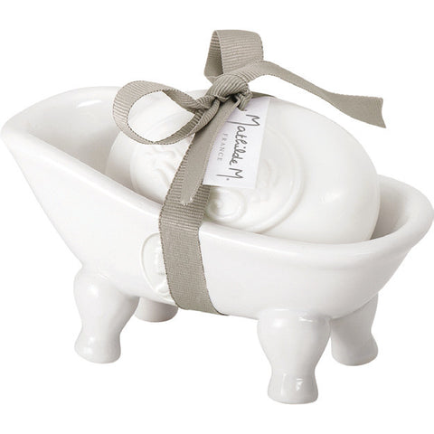Cachemire Ceramic Bathtub Soap-holder w/ soap