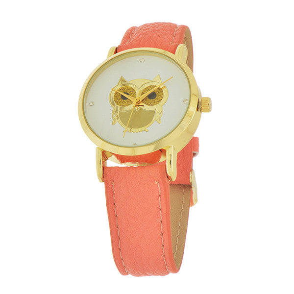 Coral Owl Watch - Anna Jane