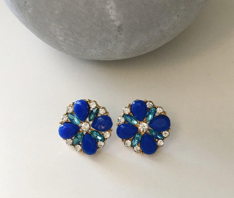 Royal Flower Statement Earrings