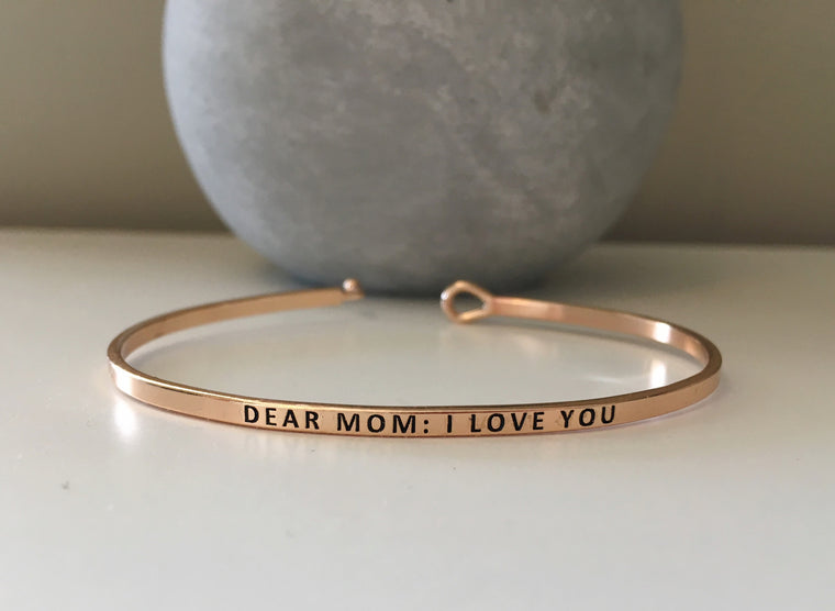 I Love You Mother's Day Bangle