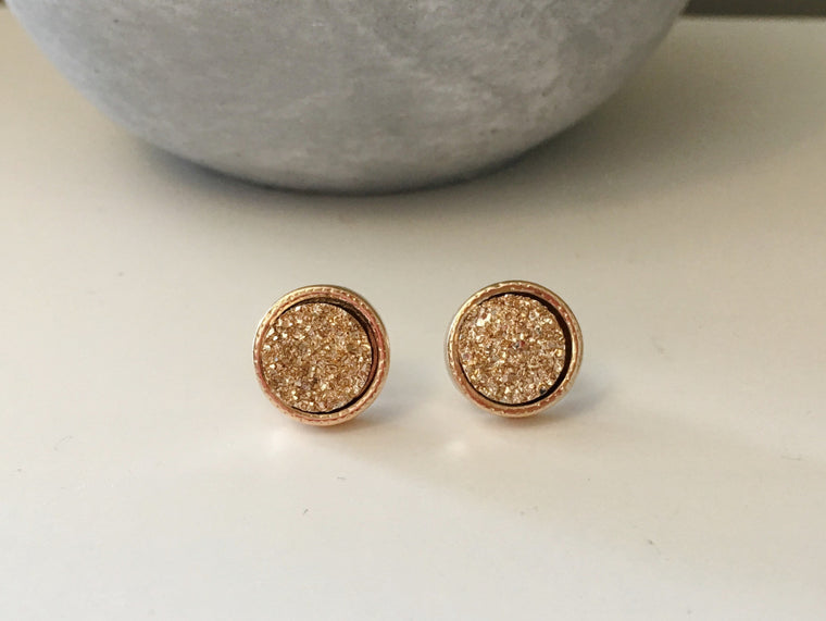 Rose Gold Druzy Circles