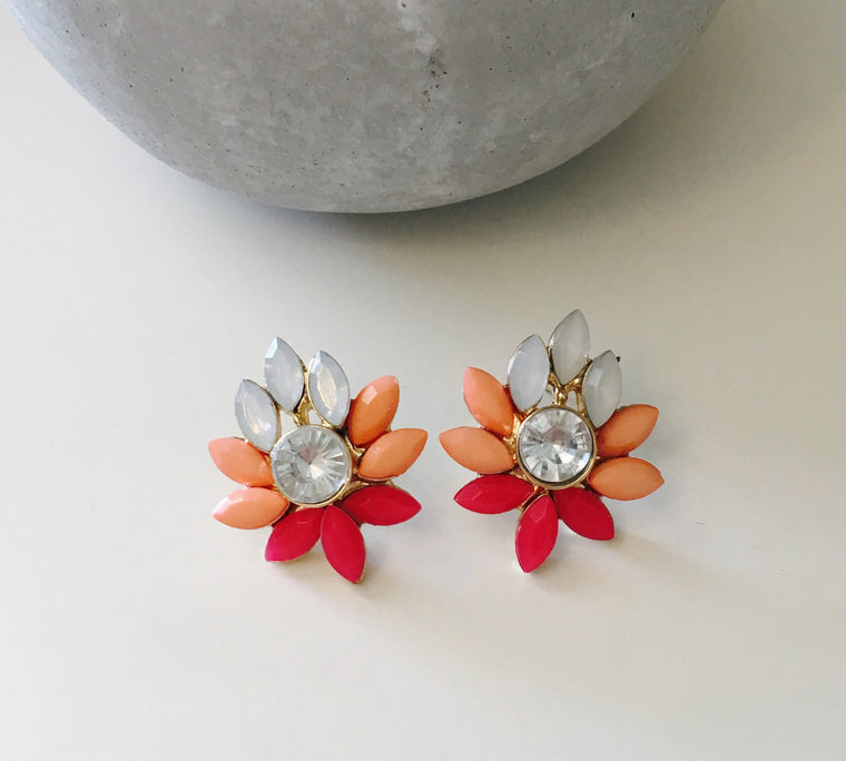Modern Florals Statement Earrings