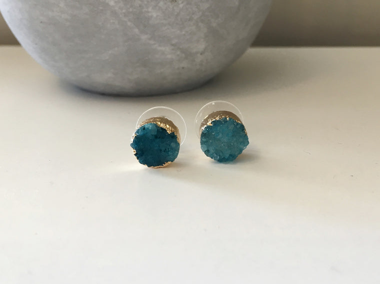 Small Natural Druzy Studs