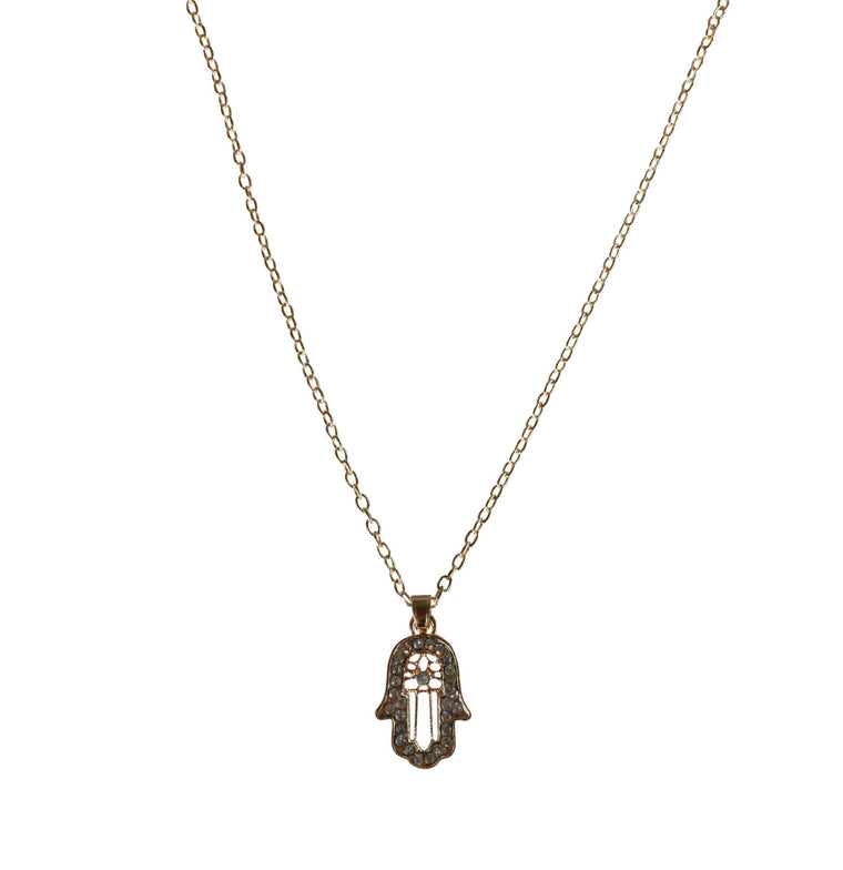 Hamsa Pendant Necklace - Anna Jane  - 1