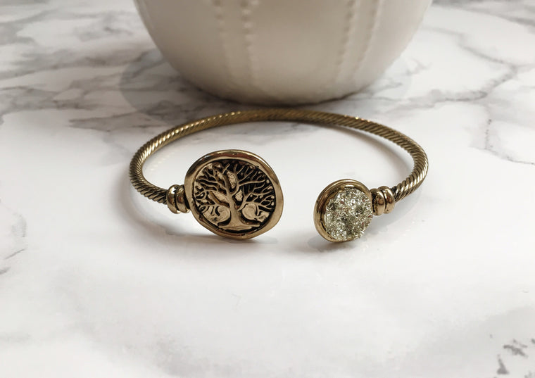 Tree of Life Cuff Bracelet - Anna Jane