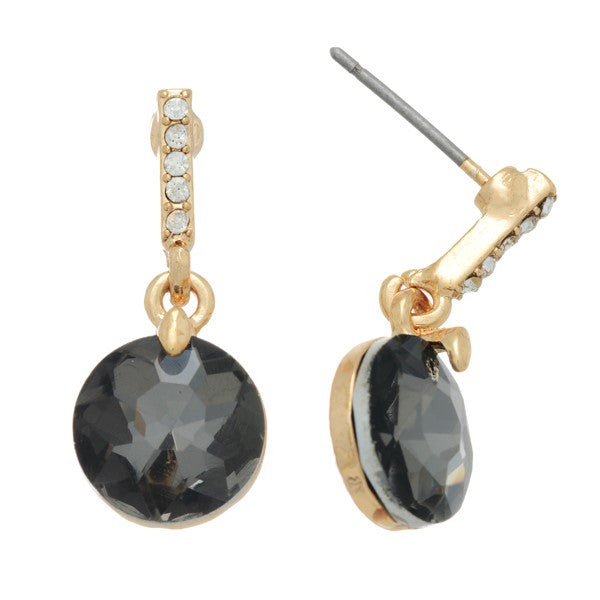 Pave & Black Diamond Earrings - Anna Jane