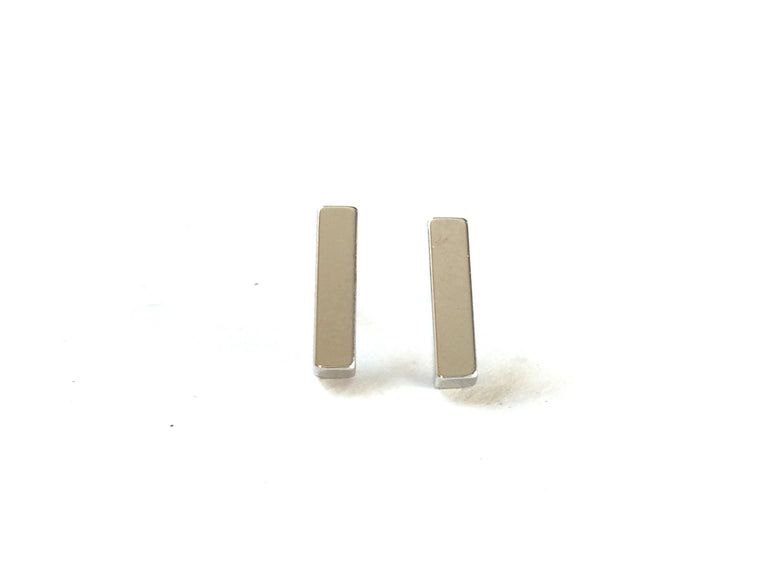 Dainty Rectangle Stud- Silver - Anna Jane  - 1