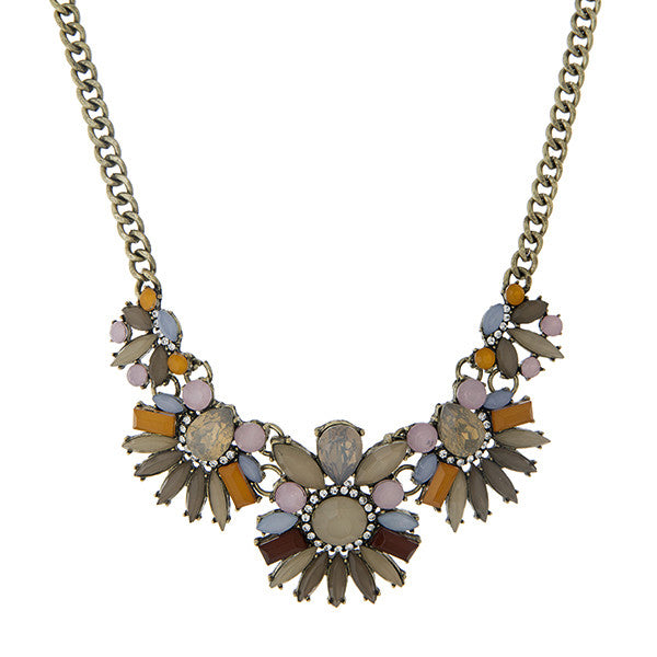 Winter Florals Statement Necklace - Anna Jane