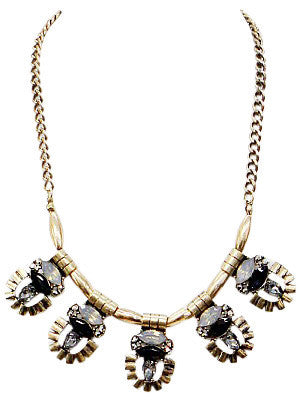 Modern Linked Statement Necklace - Anna Jane  - 1