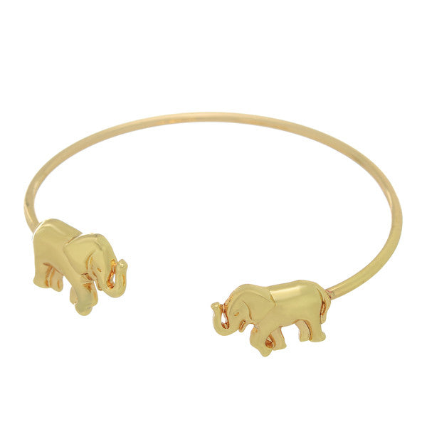 Golden Elephants Bangle Bracelet - Anna Jane  - 1