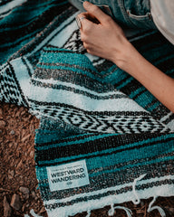 The Camp Blanket | Teal Gray
