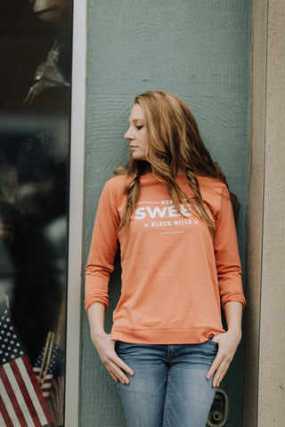 Home Sweet Black Hills Lightweight Sweatshirt |  Peach