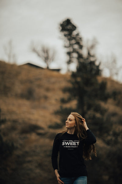 Home Sweet Black Hills Lightweight Sweatshirt |  Black