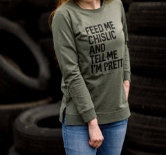 Feed Me Chislic Lightweight Sweatshirt |  Green