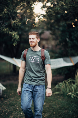 South Dakota Super Soft Tee | Military Green