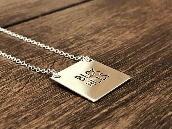 BLCK HLLS Silver Square Necklace