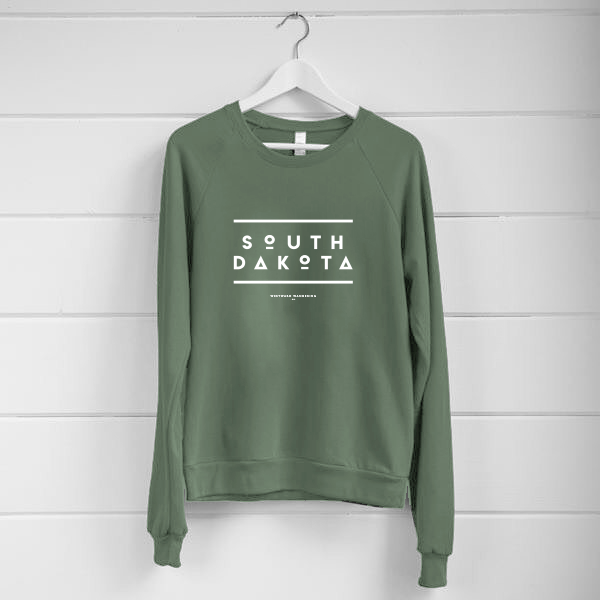 South Dakota Lightweight Sweatshirt | Military Green