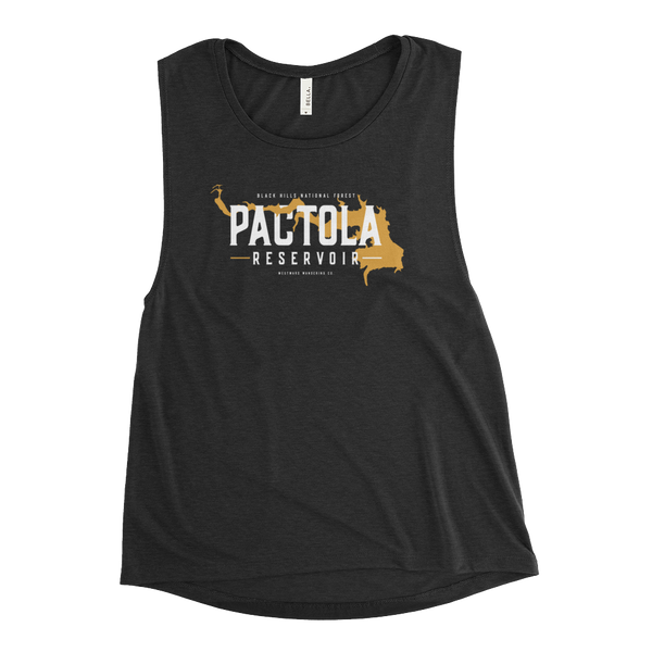 Pactola Reservoir Flowy Muscle Tank | Black Heather