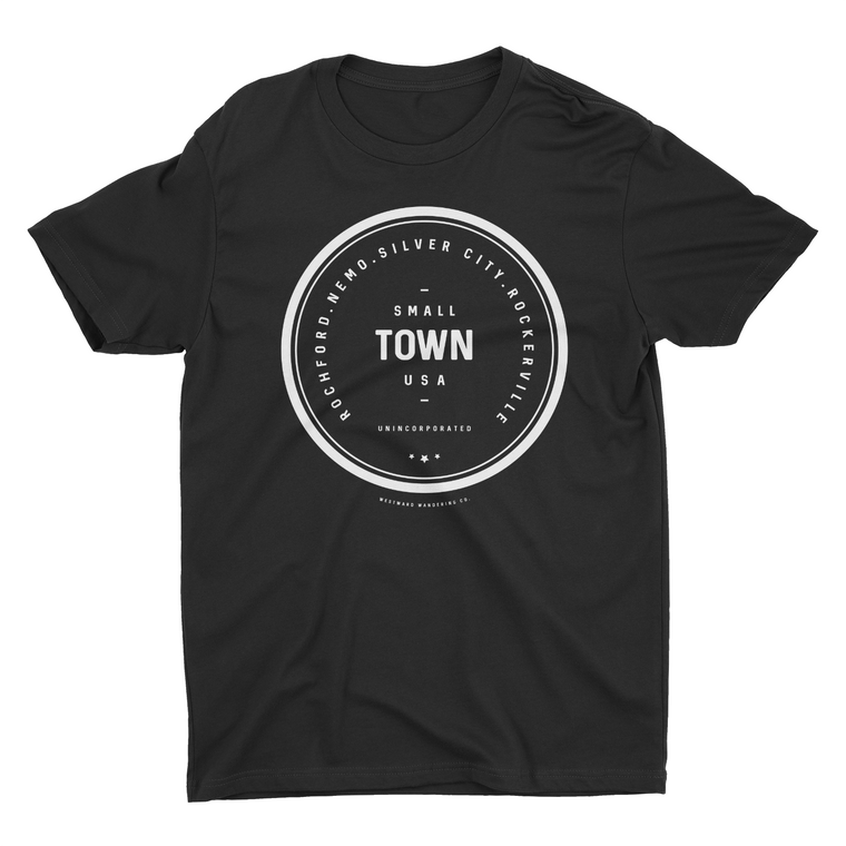 Unincorporated Small Town Tee | Black