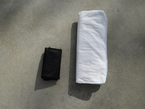 Quick Dam Flood Barrier Review vs FloodSax Sandless Sandbag Alternative Top View