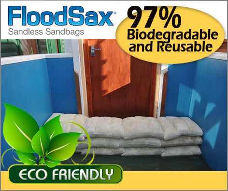 floodsax flood sacks are reusable sandbags and are biodegradable