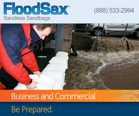 Sandless Sandbags for Business and Commercial property protection flood defence