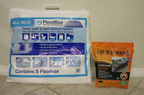 Quick Dam Flood Bags QD1224-6 vs FloodSax
