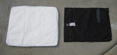 a H2O blocks sandless sandbag review vs flood sacks flood bags floodsax sandbag alternative top view