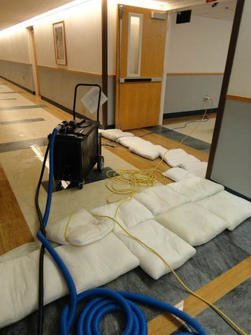 sandless sandbags floodsax saves hospital from indoor water damage