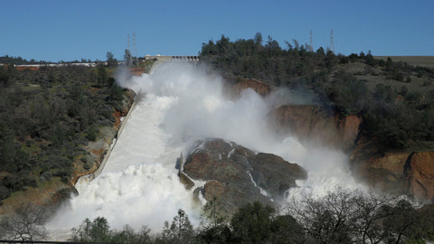 oroville dam flooding february 2017
