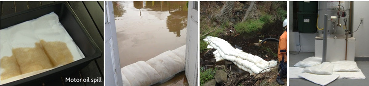 flood leaks and spills containment absorbent pad