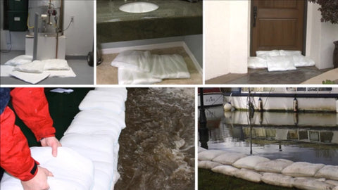 soak up leaks and spills water heater burst leak explosion - sandbag alternative - water absorbent pad