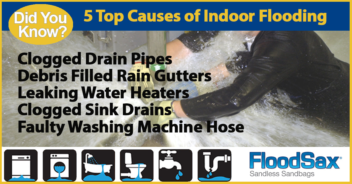 5 Top Causes of Flooding Indoor - Toilet Leaks, Pipe Bursts spills