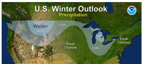 2016 US Winter Wetter Outlook on Weather