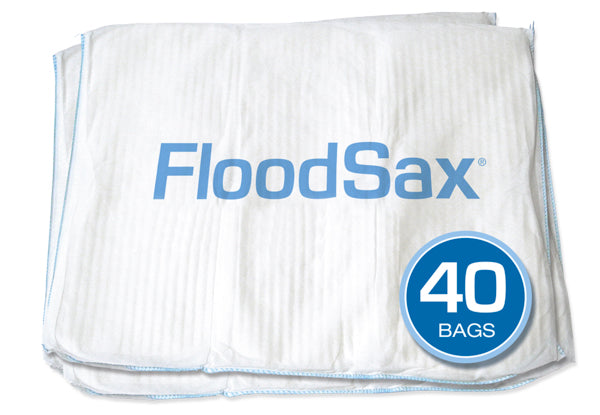FloodSax® Sandless Sandbags - 40 bags  - BEST VALUE!