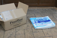 FloodSax instant expandable water filled sandless sandbag alternative