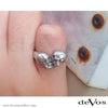 """Eternal Love"" Kissing Skulls Ladies Ring"