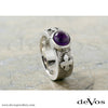 Fleur de Lis and Gem Ring