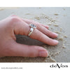 Anchor Ring for Women (Small Vertical Anchor)